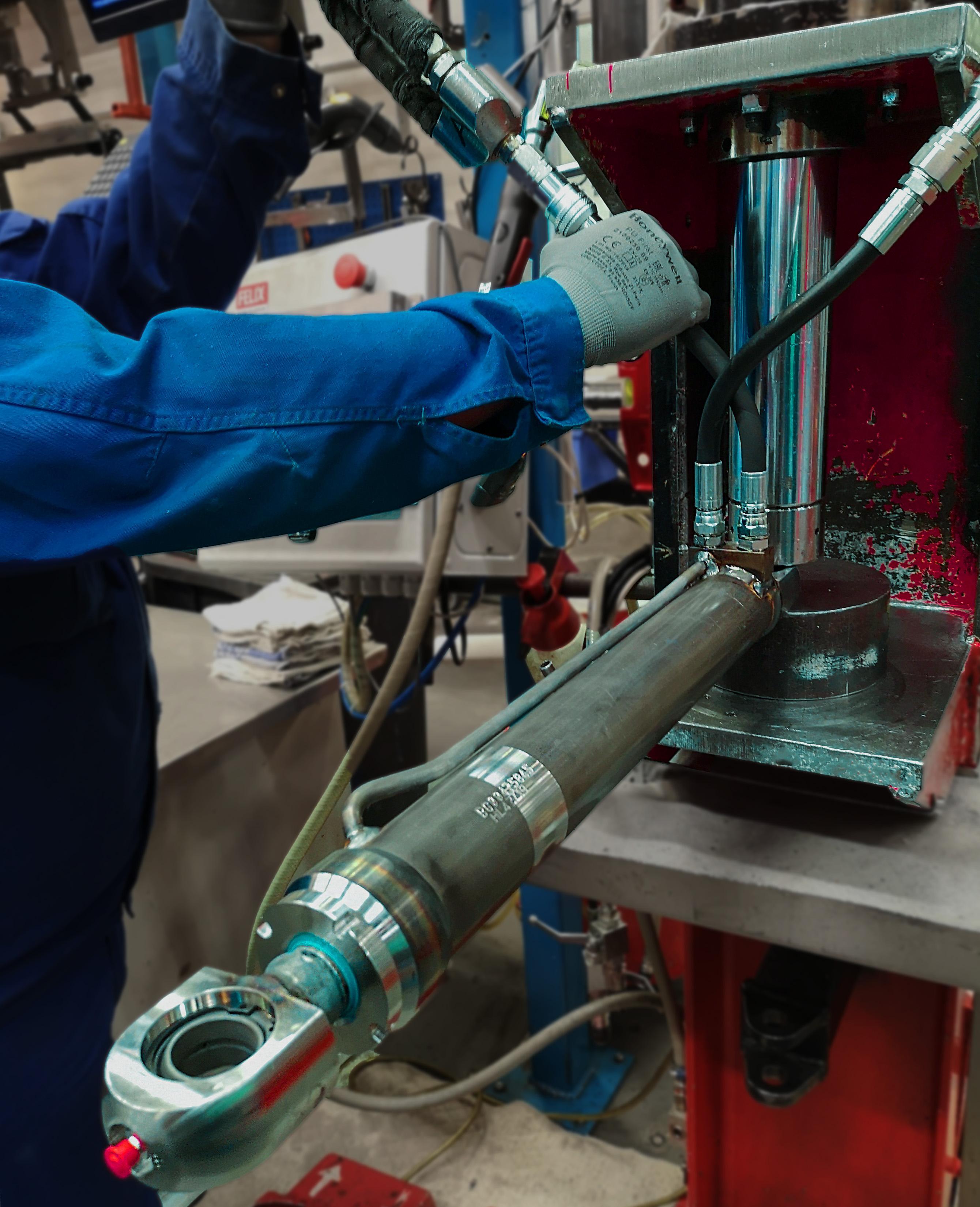 hydraulic cylinder proof test testing hydraulics